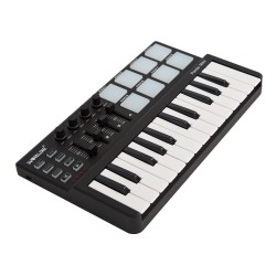 Mini portable 25-key USB keyboard & Drum Pad MIDI controller