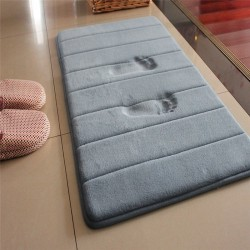 bath and kitchen mat - memory foam - bathroom carpet - water absorption rug shaggy