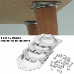 angled legs - fixing mounting plate bracket furniture table feet