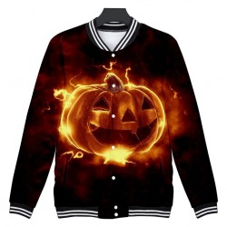 Jacket with Halloween pumpkin - windbreaker - long sleeves - short