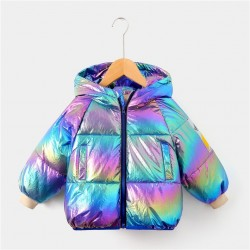 Gorgeous Multicolour White Duck Down Jacket For Girls 2-8 Years Fashion Hooded Outerwear Kids High S