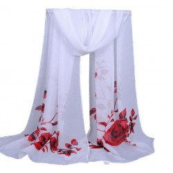 scarves flower printing long women shawl scarves - ladies girls soft wrap scarf