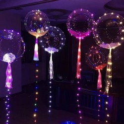 LED balloon luminous transparen air balloon - string light round bubble clear balloon