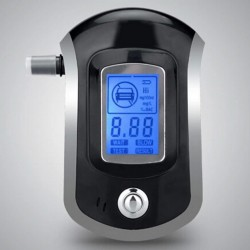 Professional Digital Breath Alcohol Tester Breathalyzer with LCD Dispaly with 5 Mouthpieces AT6000 H
