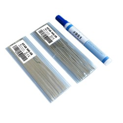 20 Meters Tabbing Tab Wire + 2 Meters PV Ribbon Bus Wire + 2Pcs 951 Soldering Rosin Flux Pen For DIY Soldering Solar Cell Panel