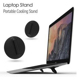 Macbook / laptop stand brackets - adjustable - black - universal cooling stand