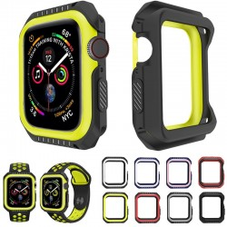 Serie 1 / 2 / 3 / 4 / 5 - 38mm / 40mm / 42mm / 44mm - Apple Watch - silicone cover - full protective case