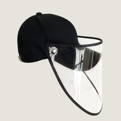Anti flu protective cap - baseball cap - black