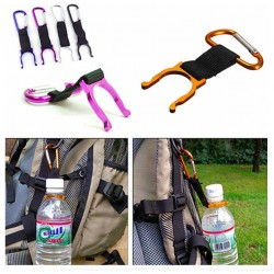 Aluminium Carabiner With Water Bottle Holder