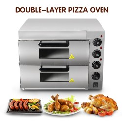 Double Layer Baking Oven - Pizza Oven - Electric - Stainless Steel