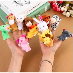 10 Plush Finger Puppets Baby Dolls*