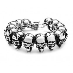 3316L Stainless Steel Skull Gothic Men Bracelet
