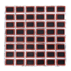 24mm Square rubber tire patches - 48 pieces