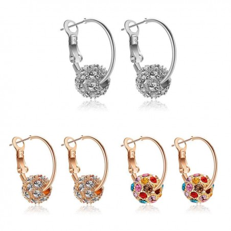 Crystal lucky balls - elegant earrings