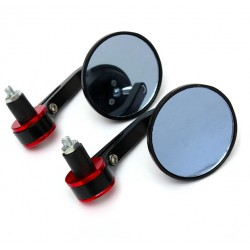 Universal Motorcycle Scooter Aluminium Round Bar End Mirror 2pc