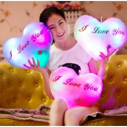 Plush I Love You Led Light Cushion |