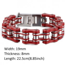 Bike Motorcycle Chain Stainless Steel Men's Bracelet*