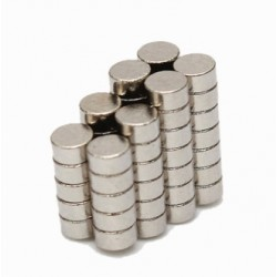 N45 Neodymium Magnet Strong Disc 2 * 1mm 50pcs
