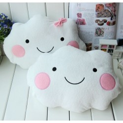 Cute Smile Bowknot Clouds Plush Pillow Cushion