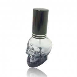 3D skull design - mini perfume bottle with atomizer 8 ml