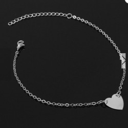 Alloy Heart Adjustable Women's Ankle Bracelet