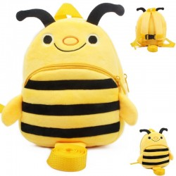 3D bee - baby walker - backpack with anti lost leash - school bag with strap
