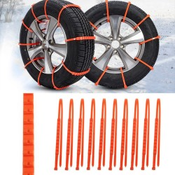 10Pcs Winter Anti-skid Chains for Car Snow Wheel Tyre Thickened Tire Tendon Car Styling New