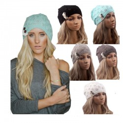 Warm knitted warm elastic winter hat
