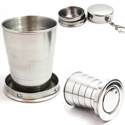 Mini Stainless Steel Portable Travel Telescopic Folding Cup 75ml