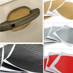 10 * 9cm Carbon Fiber Vinyl Car Mold Protection Sticker 4pcs