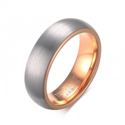 Tungsten Carbide Rose Gold Ring