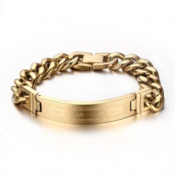 Jesus Cross Fashion Stainless Steel Bracelet