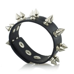 Unisex Rock Stud Spikes Rivet Gothic Leather Bracelet