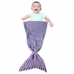 Handmade Crochet Mermaid Tail Kids Blanket
