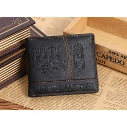 Leather men's wallet purse - zipper and credit card slots