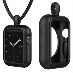 Apple Watch 1/2/3 series silicone frame case cover strap necklace