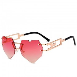 Metal steampunk heart shaped sunglasses