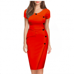 Plus size slim pencil dress