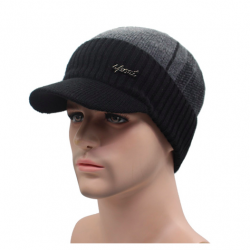 Men's winter hat with cap wool