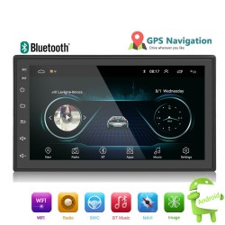 Android Din 2 - 7'' touch screen GPS Bluetooth FM WIFI auto radio
