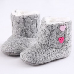 Newborn - baby warm knitted boots - shoes