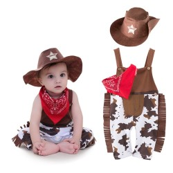 Cowboy - costume for kids set 3 pcs