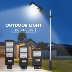 30W - 60W - 90W LED solar street light lamp - PIR motion sensor - remote control - waterproof