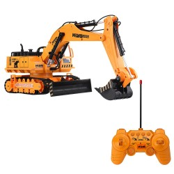 C206A 1/18 RC excavator - wireless control - plastic model with light