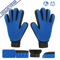 Hand-glove with grooming brush for dogs & cats