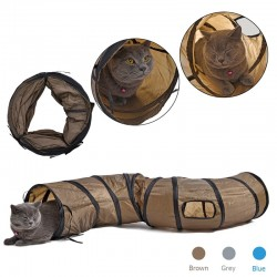 S - Shape foldable tunnel for cats & pets