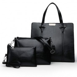 Elegant leather bags - 3 pieces set