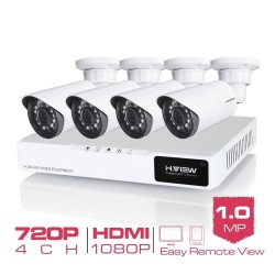 4CH 720P outdoor CCTV camera - security system kit