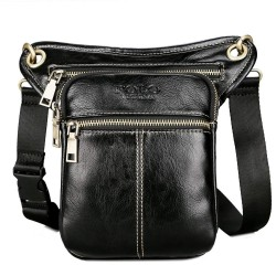 Leather POLO shoulder & waist & leg bag