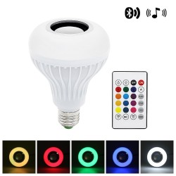 Lampada LED RGB intelligente con altoparlante wireless Bluetooth - telecomando